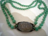 Dorrie Nossiter silver jade and chalcedony necklace