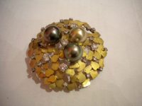 ANDREW GRIMA BROOCH/PENDANT with pearls and diamonds