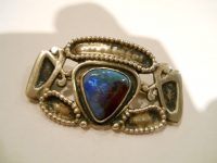 SILVER and ENAMEL arts and crafts brooch