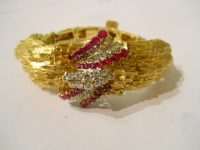 18CT Bracelet with diamonds and  rubies