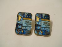 DAVID ANDERSEN ENAMEL, FOUR SEASONS, CLIP EARINGS