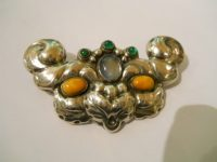 SILVER BROOCH C 1920s,signed vmf 826s