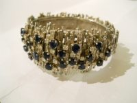 GEORG WEIL WHITE GOLD,SAPHIRE AND DIAMOND Bangle