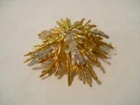 ANDREW GRIMA 18ct Diamond set gold brooch 1966