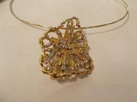 CHARLES DE TEMPLE 18CT GOLD AND DIAMOND PENDANT/BROOCH SIGNED C DE T,c 1970s