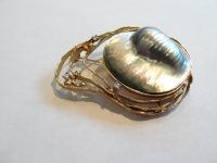 JOHN DONALD BROOCH WITH BLISTER PEARL AND DIAMONDS