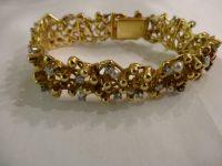 DAVID THOMAS 18Ct GOLD,DIAMOND AND PEARL BRACELET 1967
