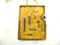 CHARLES DE TEMPLE 18CT GOLD PENDANT ON CHAIN