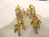 ALAN GARD 18ct EARINGS,night and day, marked 1972 and AMG