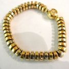 18ct THREE COLOUR GOLD BRACELET BY GARRARDS,MARKED