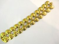 LEO DE VROOMEN 18CT GOLD BRACELET IN ORIGINAL BOX 70s