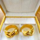 YVES SAINT LAURENT 18CT GOLD EARINGS,SIGNED,IN ORIGINAL BOX