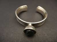 SWEDISH SILVER BANGLE BY RUNE,LABRADORITE STONE