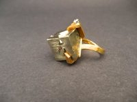 GEOFFREY TURK 18ct GOLD RING WITH PYRITE,ONE DIAMOND