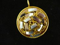LARGE KUTCHINSKY 18CT YELLOW AND WHITE GOLD PENDANT IN BOX