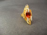 ANDREW GRIMA CITRINE AND DIAMOND RING,1960