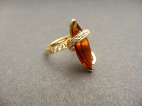 ANDREW GRIMA CITRINE RING 1967