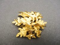 GUBELIN 18CT GOLD BROOCH,SWISS 1970s,SIGNED