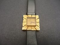 ANDREW GRIMA 18ct GOLD WATCH with leather strap