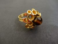 TIGERS EYE 1970s RING,NO MARKS