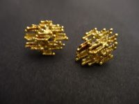 18ct GOLD EARINGS,NO MARKS,1970s