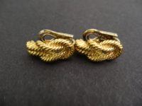 HERMES,PARIS, 18ct GOLD EARINGS