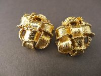 KUTCHINSKY 18CT GOLD EARINGS SIGNED