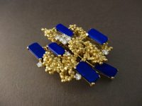 ANDREW GRIMA LAPIS BROOCH ,SIGNED,DATED 1963