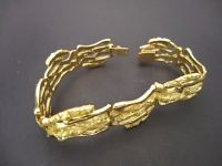 JOHN DONALD 18ct GOLD BRACELET SIGNED, 1965
