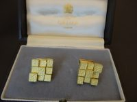 ANDREW GRIMA CUFFLINKS,18CT,1970