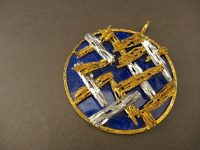 KUTCHINSKY LAPIS YELLOW AND WHITE GOLD PENDANT,DATED 1972
