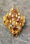 ANDREW GRIMA TOPAZ RING WITH DIAMONDS