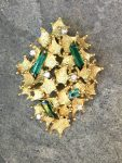 ALAN GARD TOURMALINE AND DIAMOND PENDANT/BROOCH