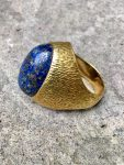 ANDREW GRIMA LAPIS RING DATED 1966,18CT,SIGNED GRIMA