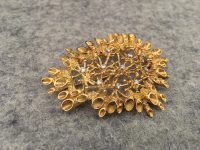JOHN DONALD BROOCH IN 18CT WITH DIAMONDS,SIGNED