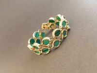 CHAUMET GOLD BRACELET WITH MALECHITE,SIGNED