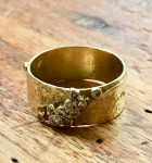 GERDA FLOCKINGER 18CT GOLD RING WITH DIAMONDS,SIGNED GF